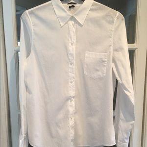 Theory white blouse. Size large